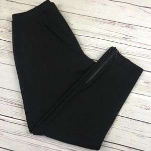Eileen Fischer Black Basic Pants Cropped Capri M
